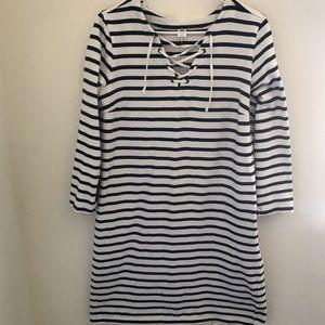 GAP Navy/White Stripe Dress